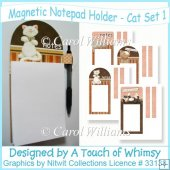 Magnetic Notepad Holder - Cat Set 1