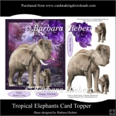 Tropical Elephants Card Topper