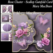 Rose Cluster - Scallop Gatefold Card
