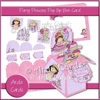 Party Princess Pop Up Box Card