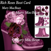 Rich Roses Boot Card