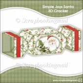 Simple Joys Santa 3D Cracker Gift Box