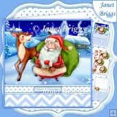 SANTA & REINDEER 7.5 Christmas Decoupage & Insert Mini Kit