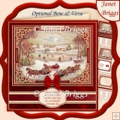 SLEIGH RIDE CHRISTMAS SCENE 7.8 Quick Card & Insert