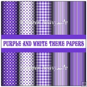 Purple And White Theme Papers
