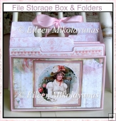 Sweet Adeleine Double-Sided Organizer Tote with 3 File Folders