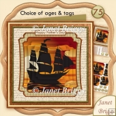 Ship Silhouette in the Sunset 8x8 Pyramage Male Card Kit
