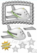 Toony face plane in silver frame