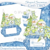 Shaped Snowman Card - TWO(Retiring in August)