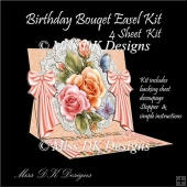 Birthday Bouquet Easel Card