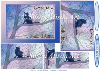 Love is a safe distance - ref coronavirus - by Susan Alison