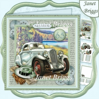 Vintage Silver Mint Car 7.5 Decoupage Ages & Insert Kit For Men