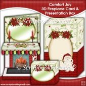 Comfort Joy 3D Fireplace Card & Presentation Box