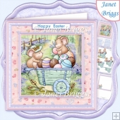 MICEY EASTER WAGON 7.5 Decoupage & Insert Kit