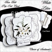 Four Fold Pop-Out - White Lilies