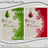 2x A5 Striking Christmas Card Fronts
