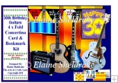 30th Birthday Guitars - Over The Edge Concertina Card Kit