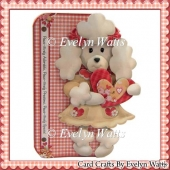 Adorable Poodle Shaped Fold Card Kit