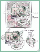 Charming Afternoon Card Topper with Decoupage