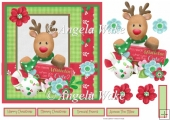 Red nosed reindeer 7x7