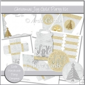 Christmas Joy Gold Party Set