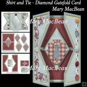 Shirt and Tie - Diamond Gatefold Card