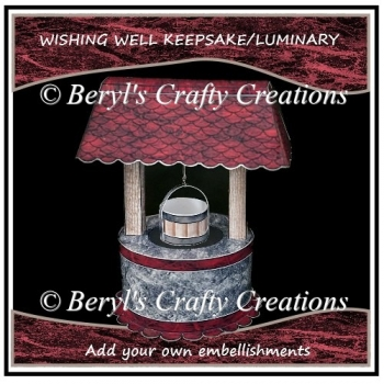 Wishing Well Keepsake/Luminary - Decorate Your Own