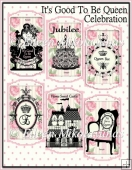 It's Good To Be Queen Diamond Jubilee Card Toppers/ Panels