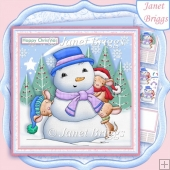 SNOWMAN FROSTY AND FRIENDS 7.5 Christmas Decoupage & Insert Kit