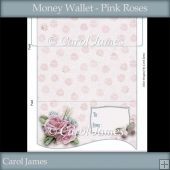 Money Wallet - Pink Roses