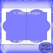 Shaped Card Template 6