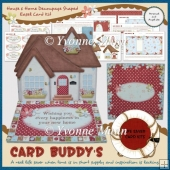 House & Home Decoupage Shaped Easel Card Kit