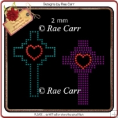 RS818 Crosses Rhinestone Template