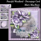 Peaceful Woodland - Decoupage Card