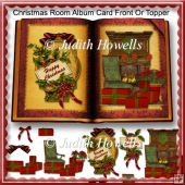 Christmas Room Album Card Front Or Topper