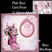 Pink Boot Card Front