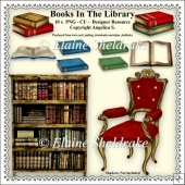 Books In The Library Clipart - Set One - CU - PNG Clipart