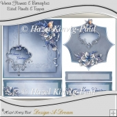 Winter Flowers & Butterflies Easel Panels & Topper