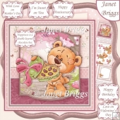 TEDDY'S CHOCOLATE BOX 7.5 Decoupage Kit Various Occasions