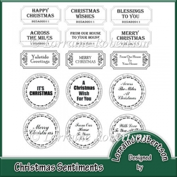 Christmas Sentiments For Cards.Christmas Sentiments 1 00 Instant Card Making Downloads