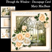 Through the Window Decoupage Card