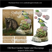 Old Boot Garden Topper and Decoupage