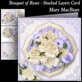 Bouquet of Roses - Stacked Layers Card
