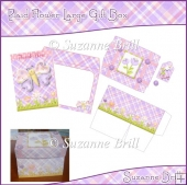 Plaid Flower Large Gift Box