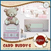My Cute Teddy Over The Top Card Kit