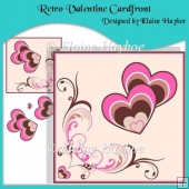 Retro Valentine Cardfront with Decoupage
