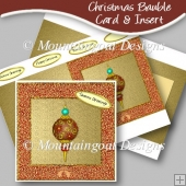 Christmas Bauble Card & Insert