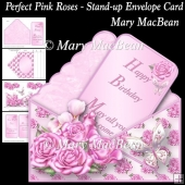 Perfect Pink Roses - Stand-up Envelope Card