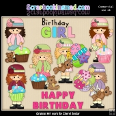 Alyssa The Birthday Girl ClipArt Collection