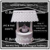 Wishing Well Keepsake/Luminary P/U Template
